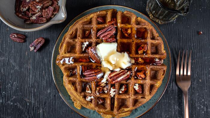 Gluten Free Pecan Waffles